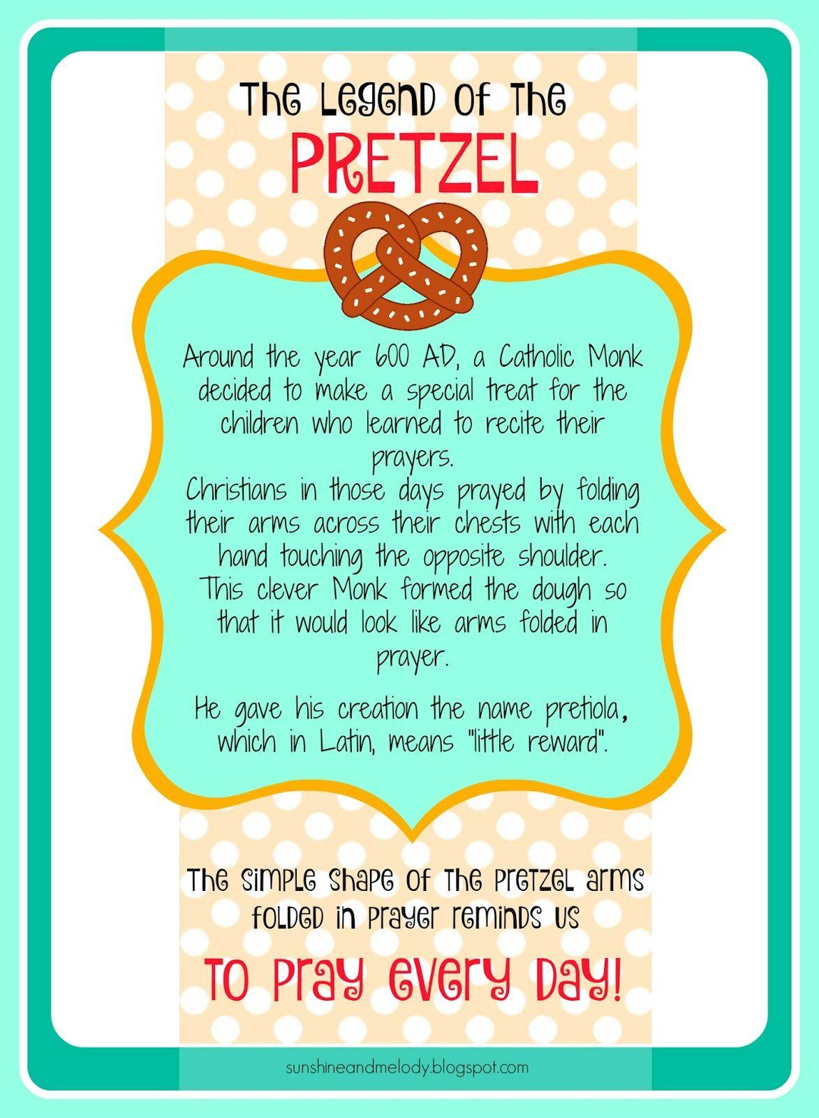 Pretzels And Prayer Activity The Legend Of The Pretzel
