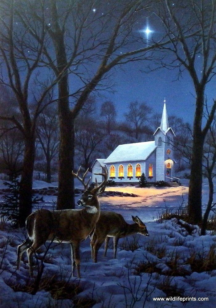 Darrell Bush A Midnight Clear Churches Artist And Printing