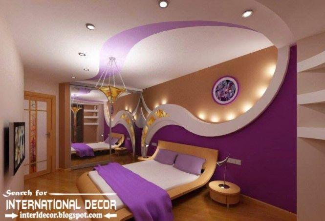 Contemporary Pop False Ceiling Designs For Bedroom 2016