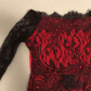 Nwot womenus red u black long sleeve lace dress red black lace