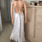Lingerie under wedding dress  Lingerie setautiful floor length  Nightgown Hand washing and