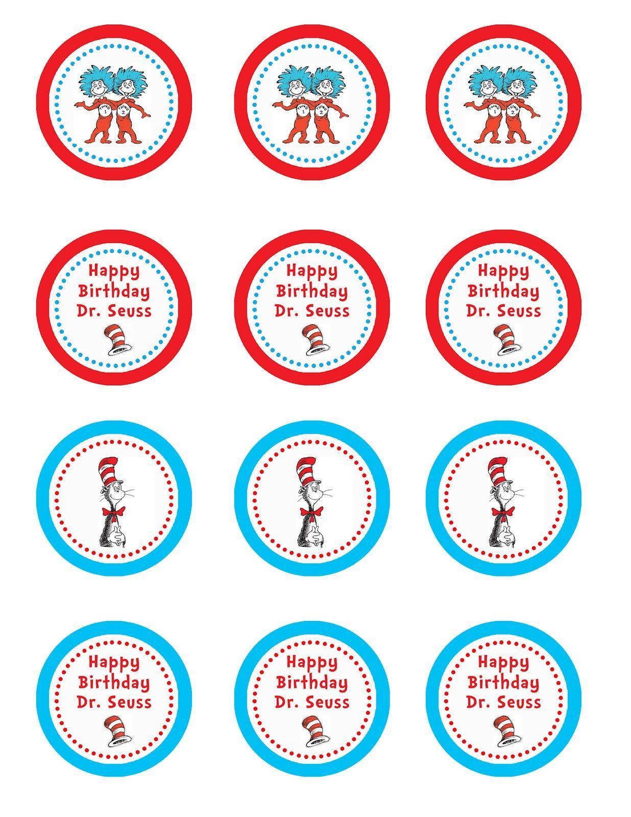 Free Dr Seuss Printable Cupcake Toppers