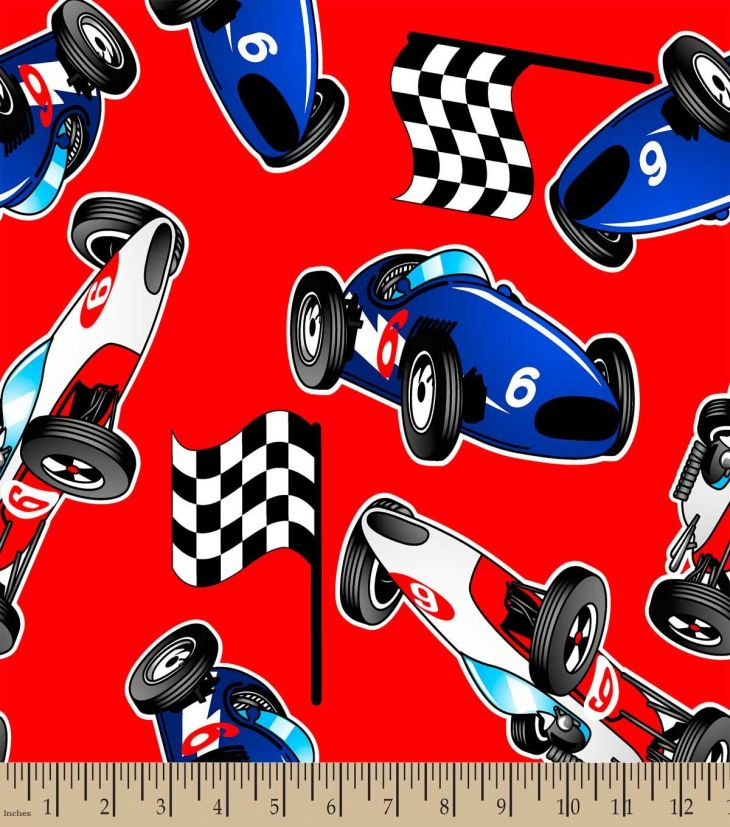 Start Your Engines Print FabricEco Canvas Personalized Fabric