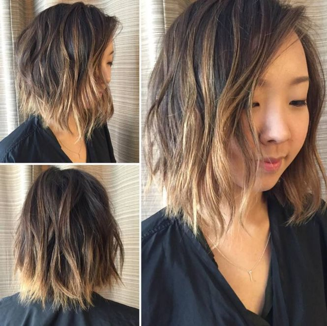 Ombre highlights for short black hair the best black hair 2017 20 blonde ombre hair color ideas red brown and black pmusecretfo Gallery
