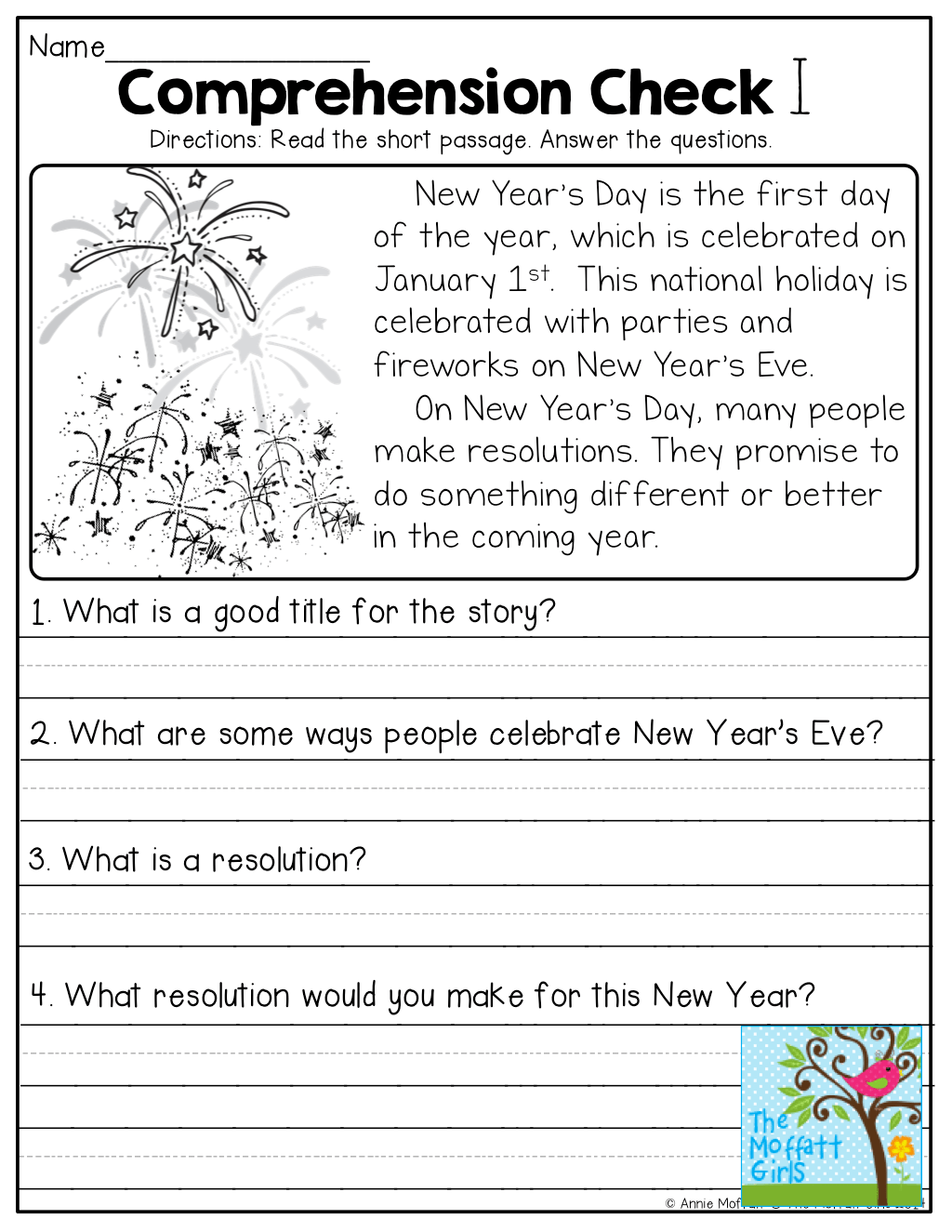 Worksheet Free Reading Comprehension Worksheets For 1st