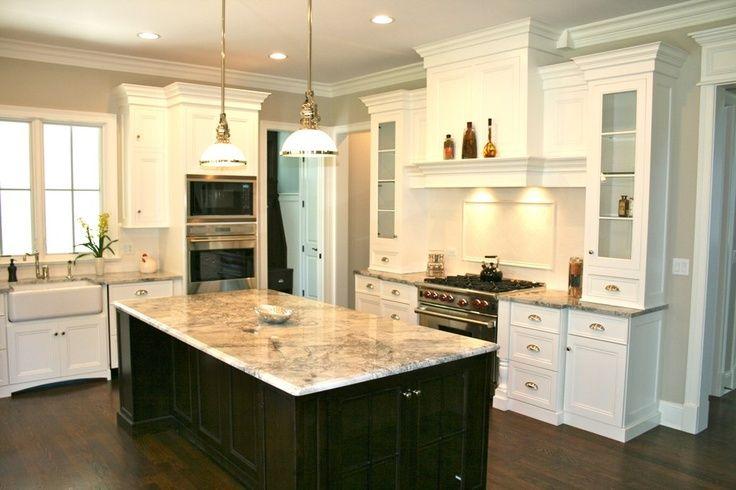 white kitchen cabinets with dark floors dinning and kitchen design pinterest kitchens on kitchen remodel floor id=34233