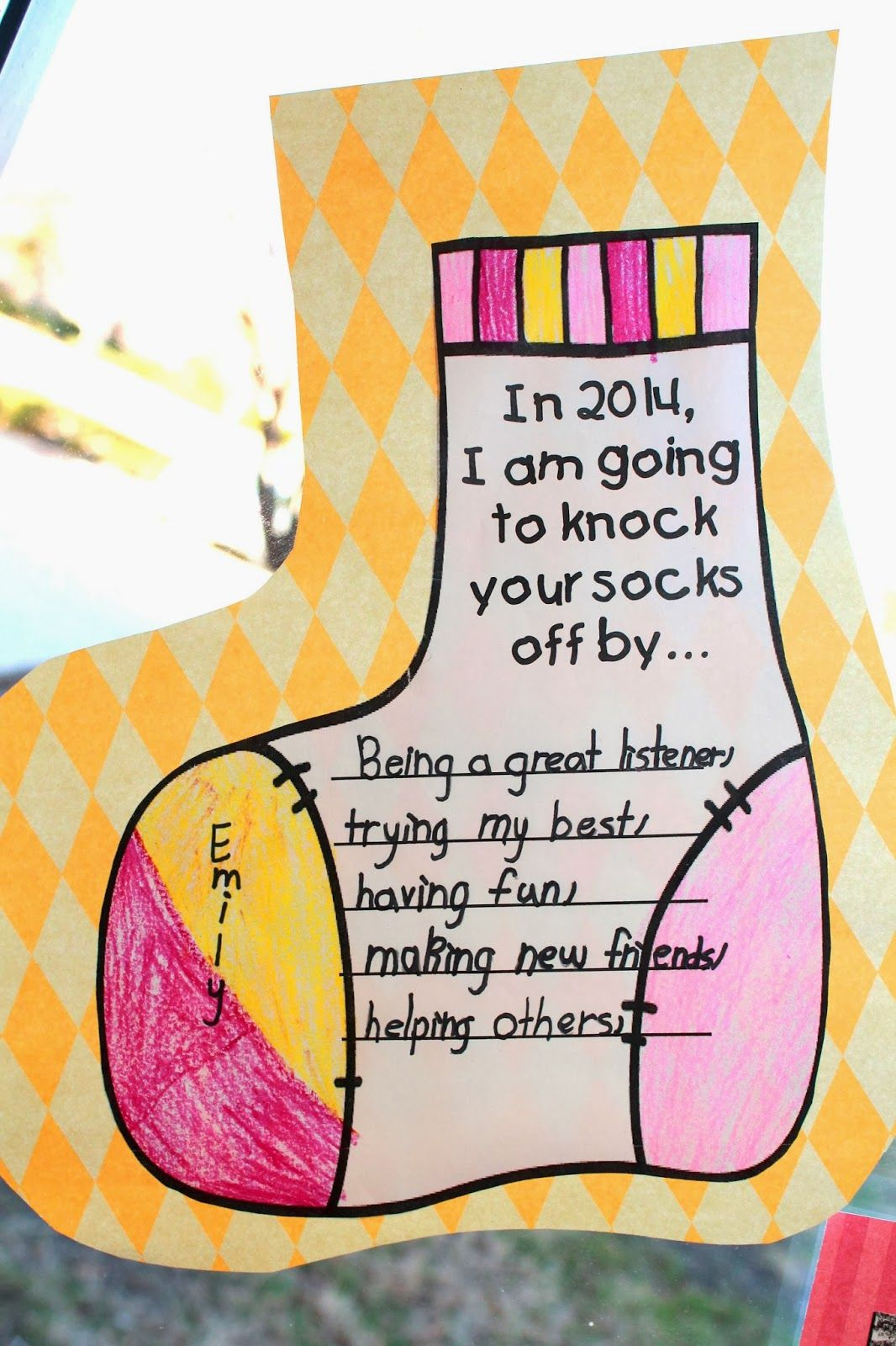 Free New Year S Unit Including This Printable In I M Going To Knock Your Socks Off