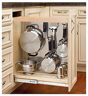 10 modest kitchen area organization and diy storage ideas 6 on kitchen organization pots and pans id=95398