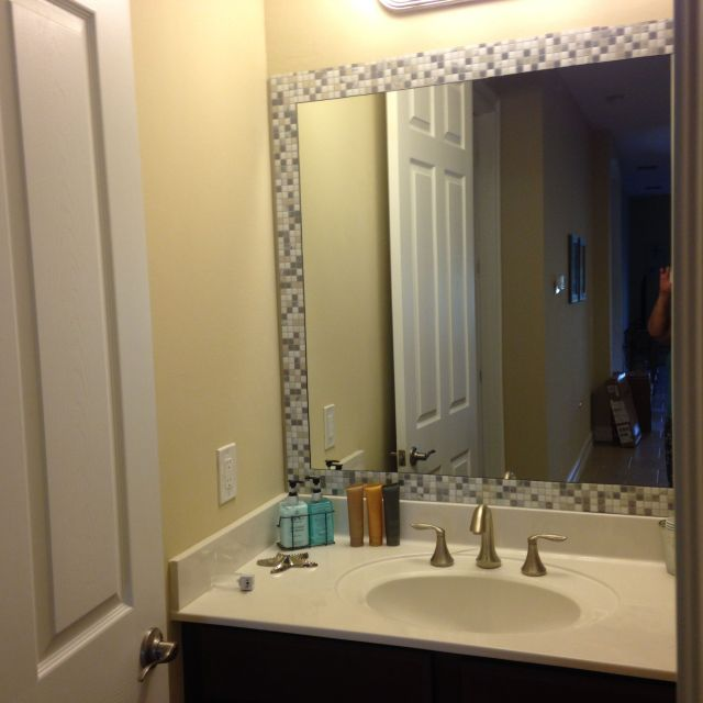 Take self adhesive tiles bought from homedepot and add as a
