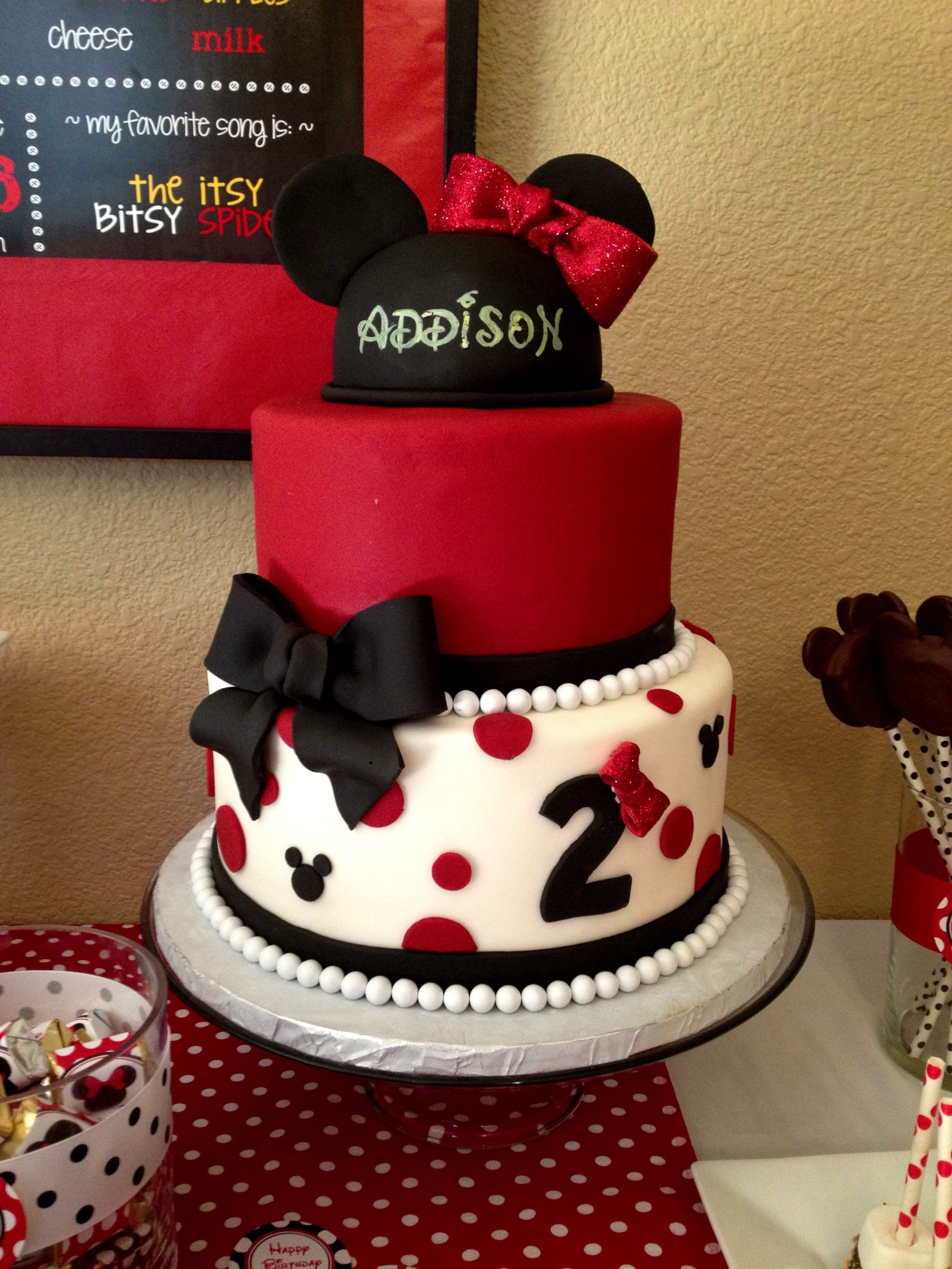 Minnie Mouse Cake I Made For My Daughter S Second