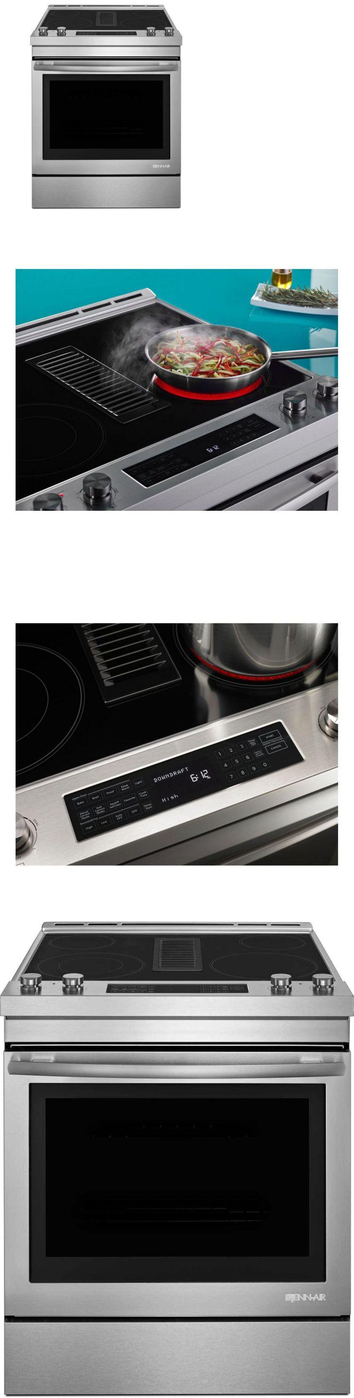 Major Appliances JennAir Ss SlideIn Electric Downdraft Range