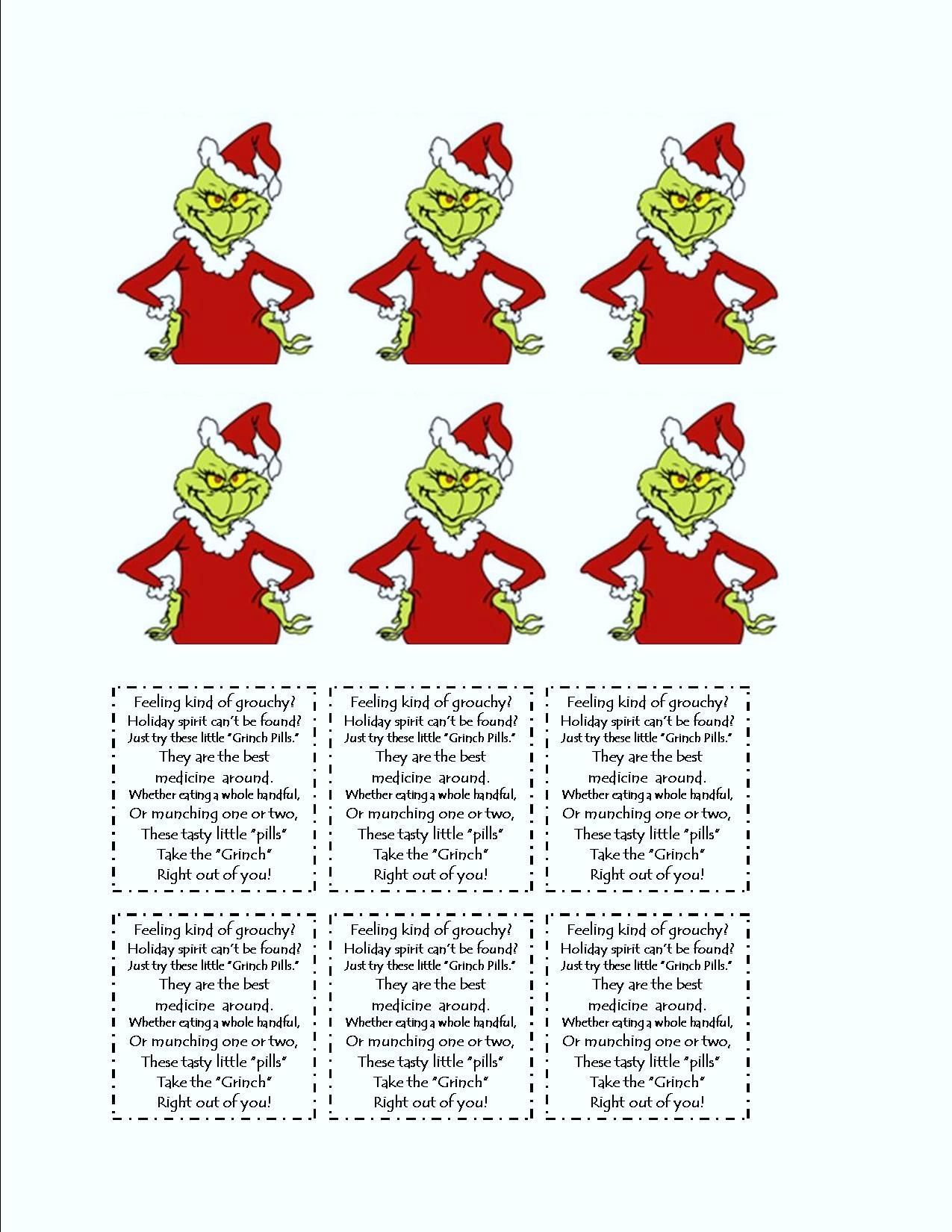 Grinch Tic Tac Labels