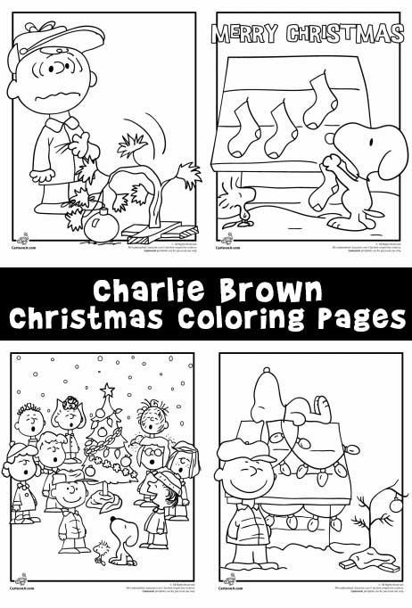 six free coloring pages from the classic charlie brown