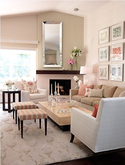 Blush Coloured Living Room