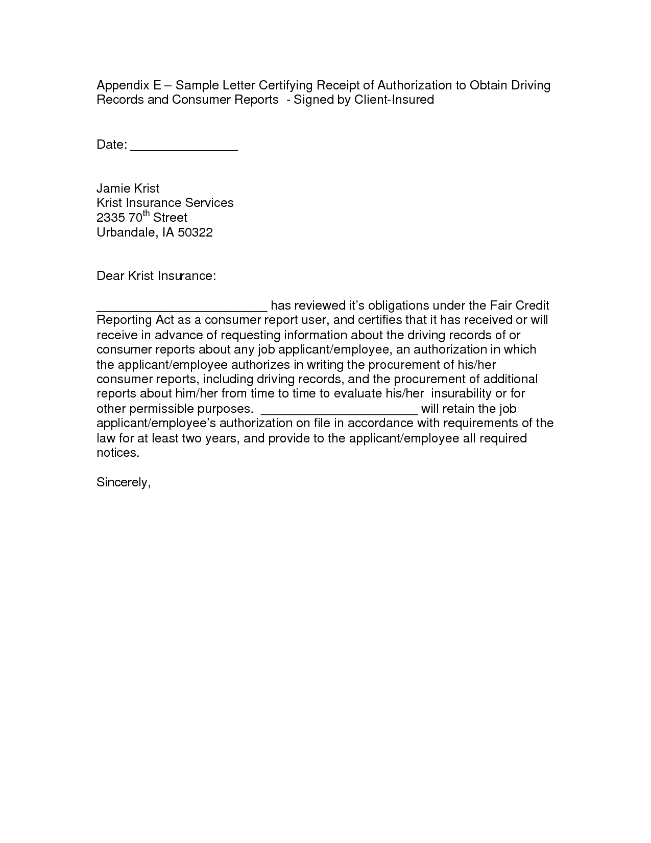 Church Donation Letter