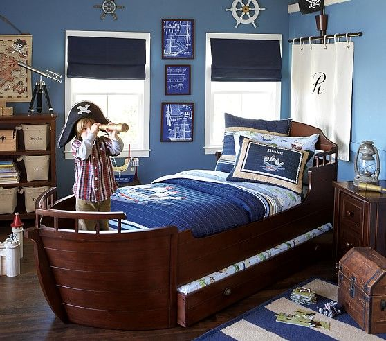 pirate bed & trundle   pottery barn kids   pirate bedroom