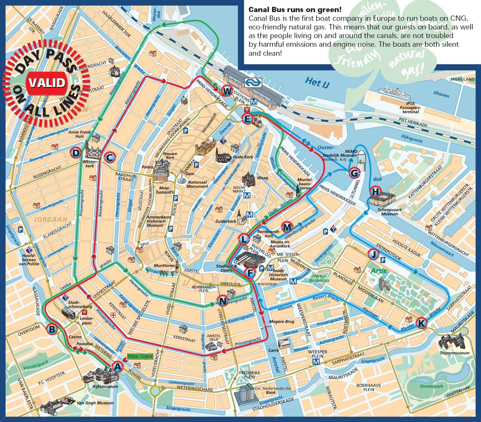 Amsterdam Canal Map Amsterdam Pinterest Tourist Map