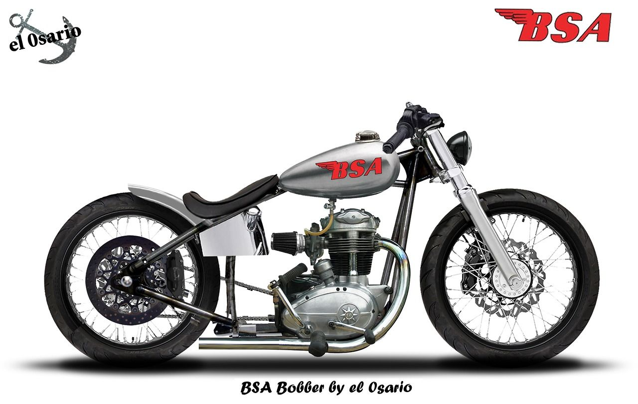 Jack455 El 0sario Bsa Bobber Rigid Frame Bsa Engine Hd