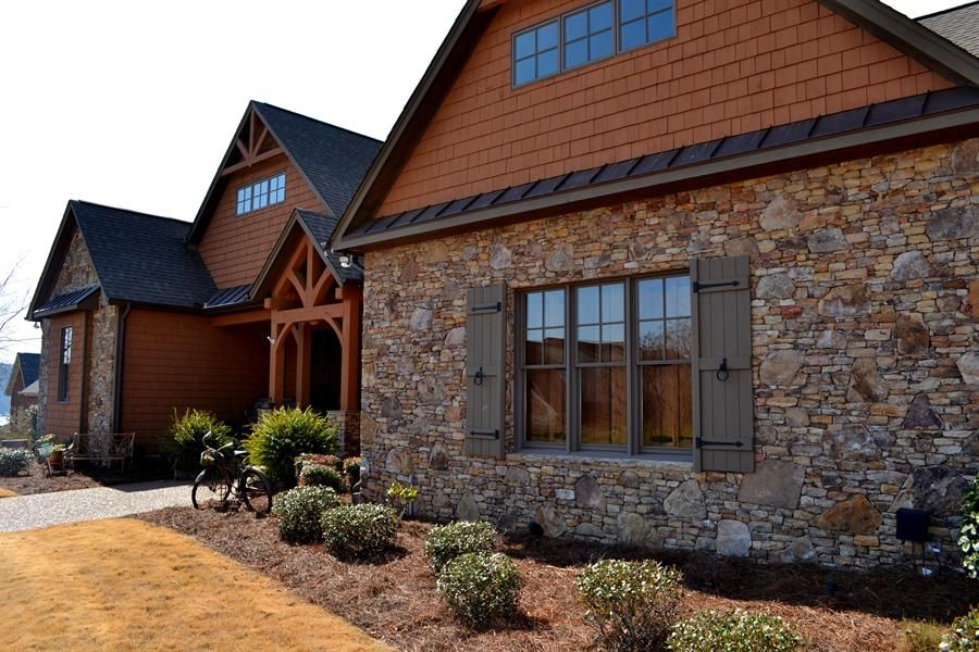 Stone House With Wood Siding - Google Search