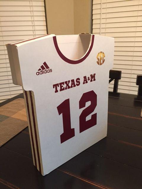 Texas AampM Football Uniform Valentines Day Boxmade