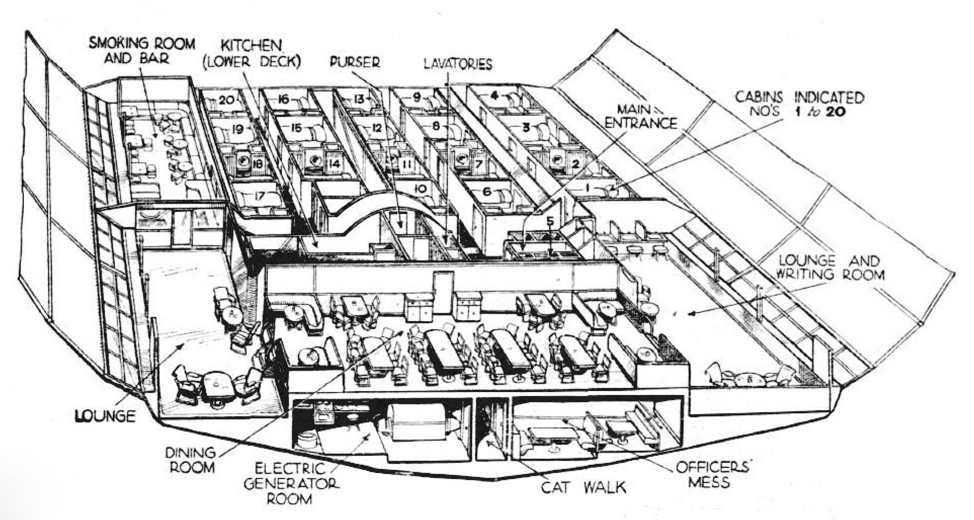 Lz 130 Graf Zeppelin Interior