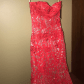 Red and silver prom dress glitter prom dresses true red and
