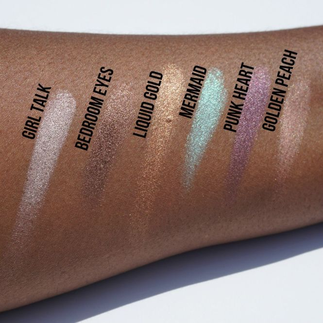 Nyx Prismatic Eyeshadows Swatched On Brown Skin
