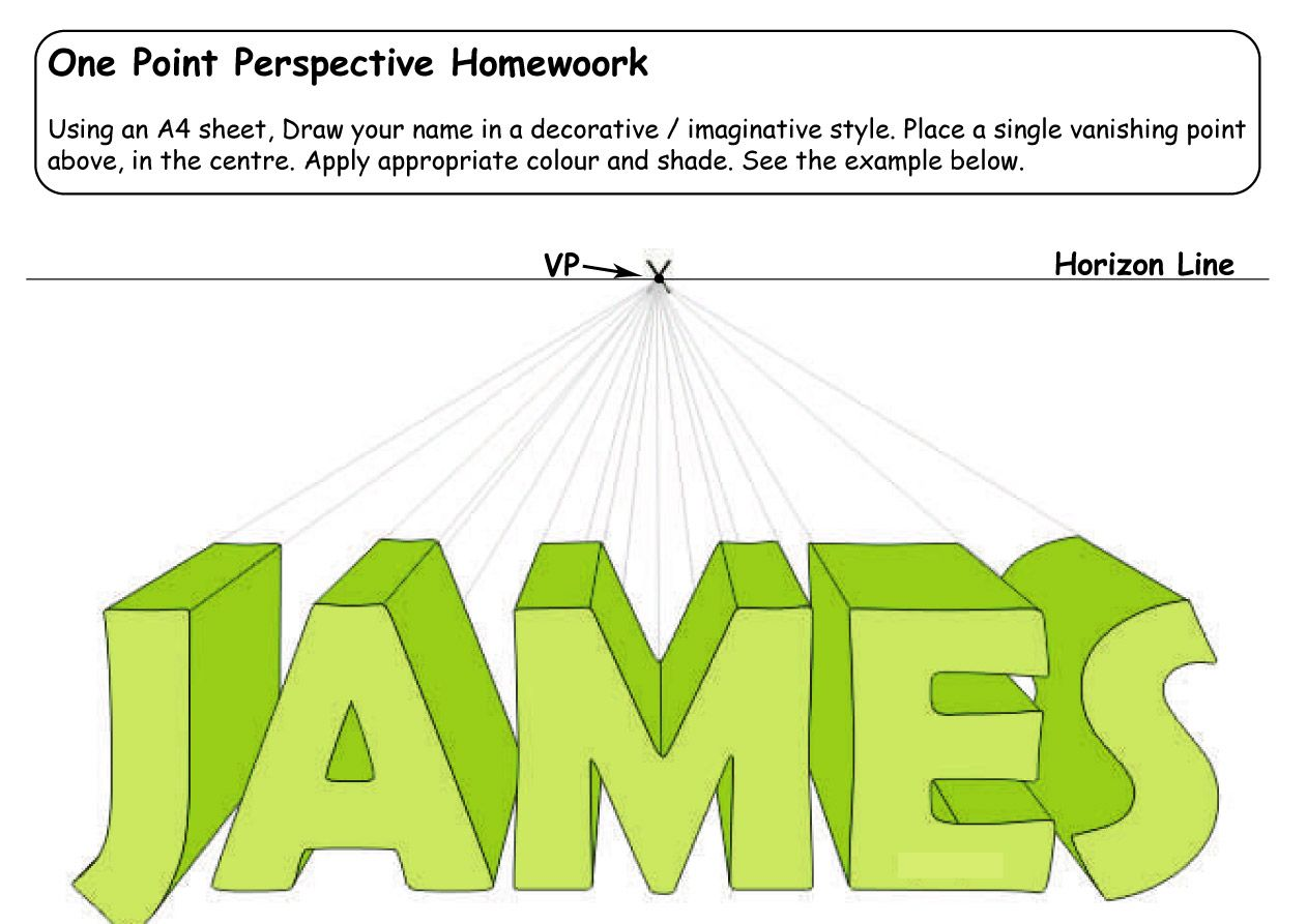 Image Detail For Homework 2 One Point Perspective Homework 2 1