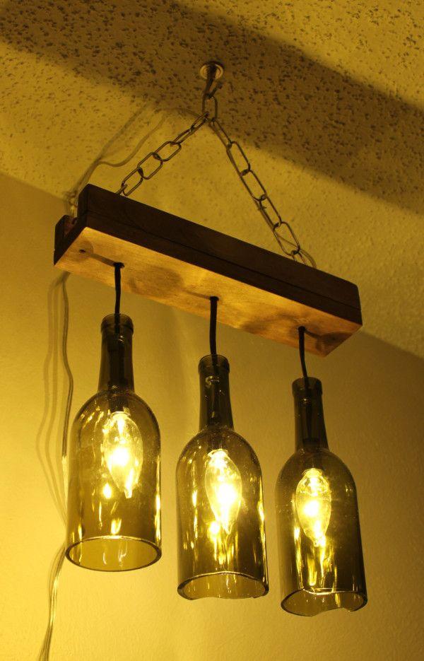 Reusing Glass Bottles 10 600x935 Make A Chandelier For Wine