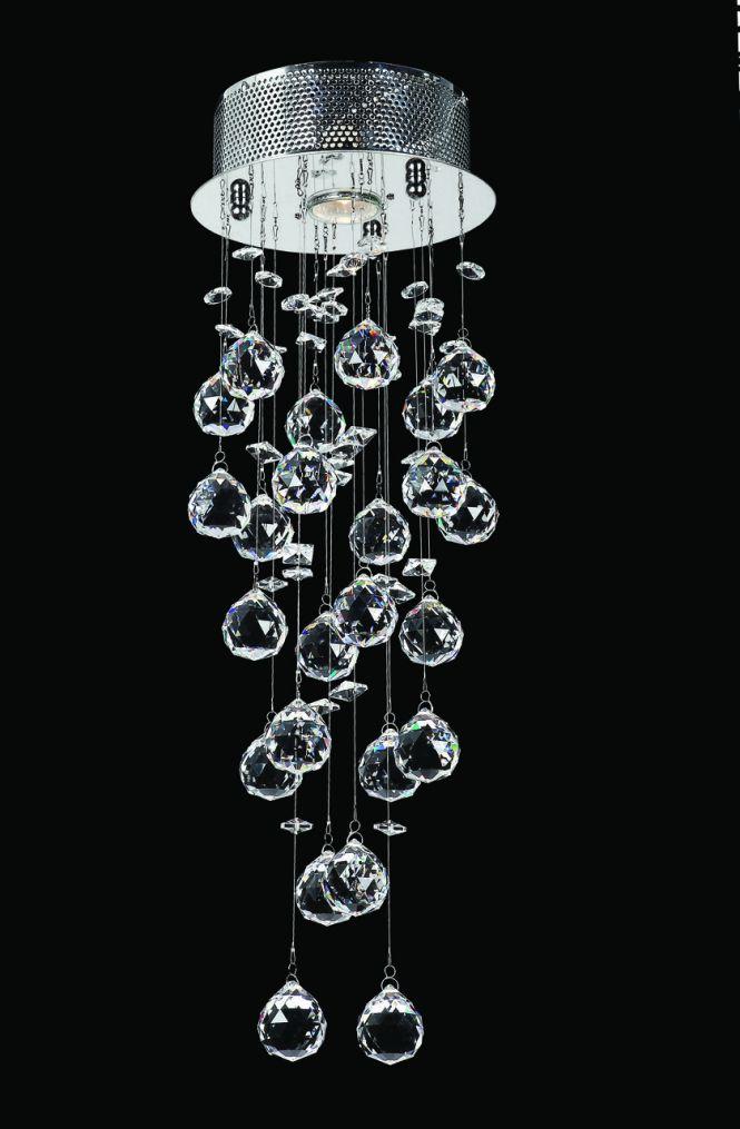 Designer Chandelier Australia Pty Ltd Round Cer Led Crystal Width 20cm Height