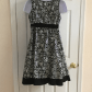 Motherhood maternity floral black and white dress