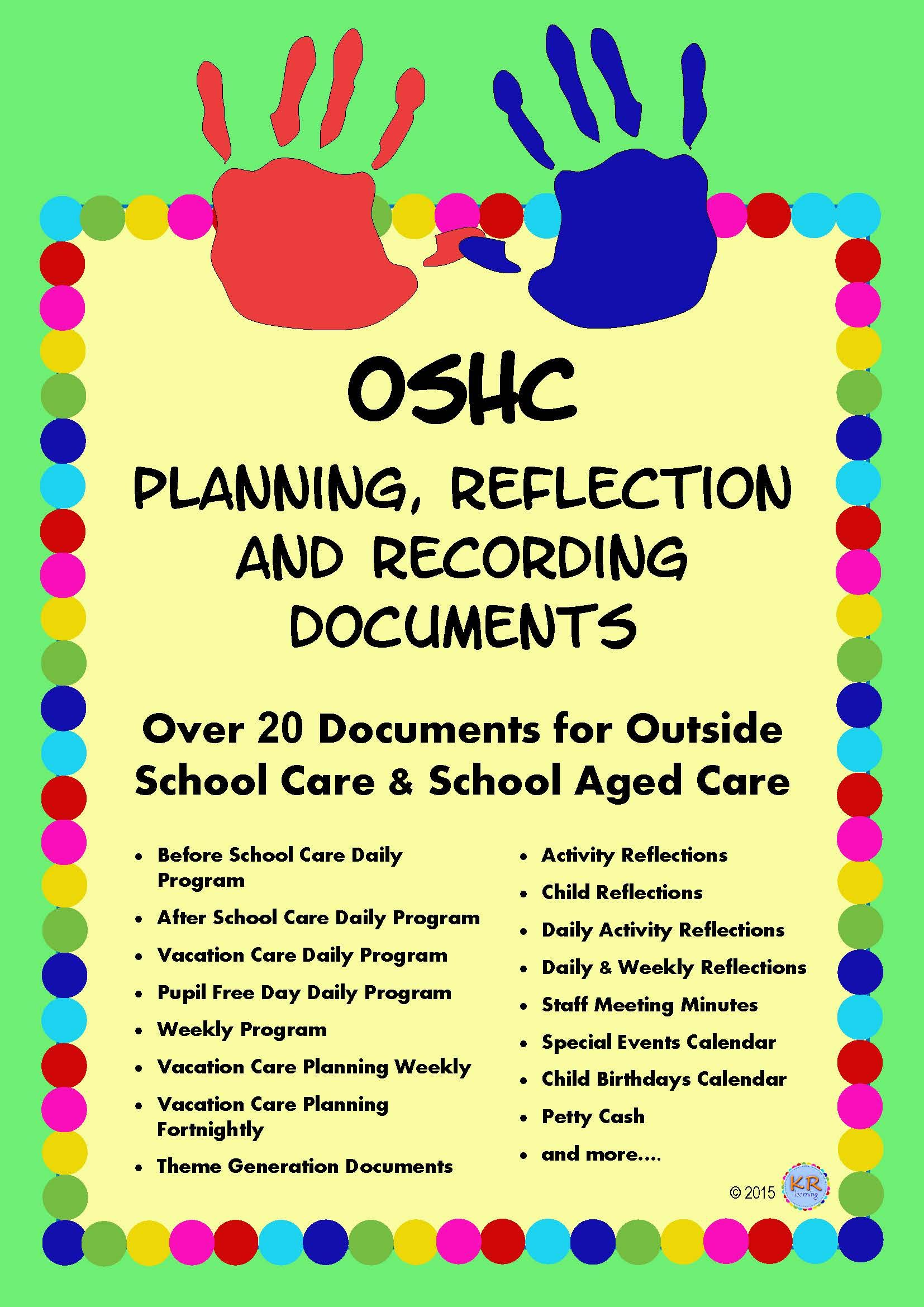 Outside School Care Planning Reflection And Recording