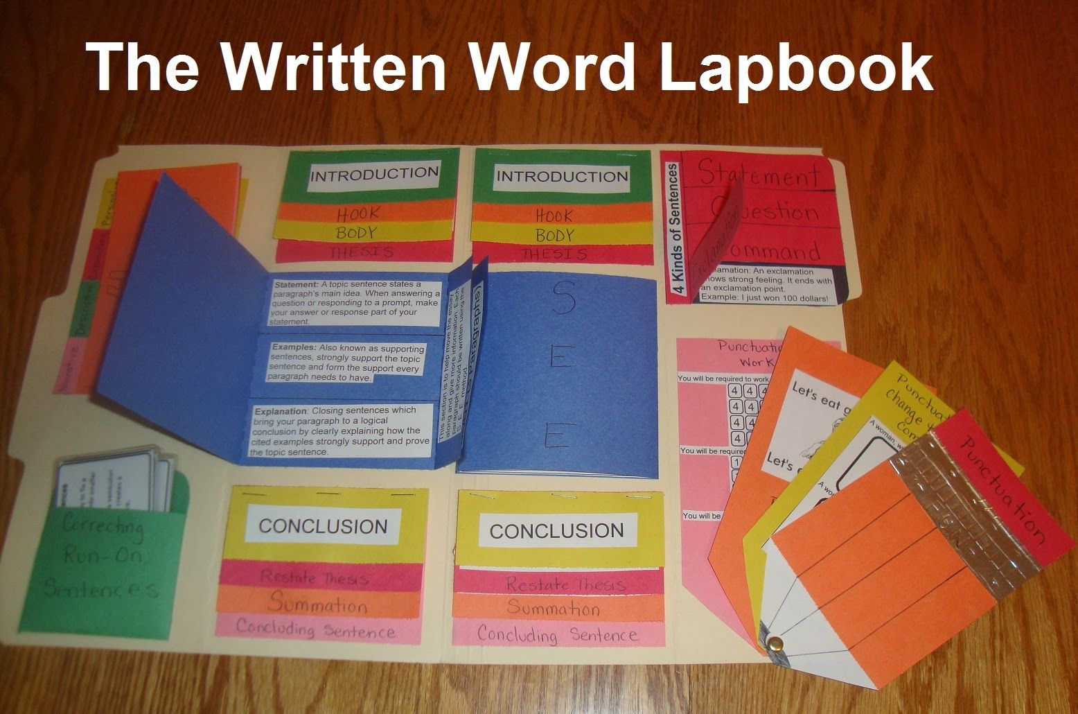 The Written Word Lapbook High School Level How To Write
