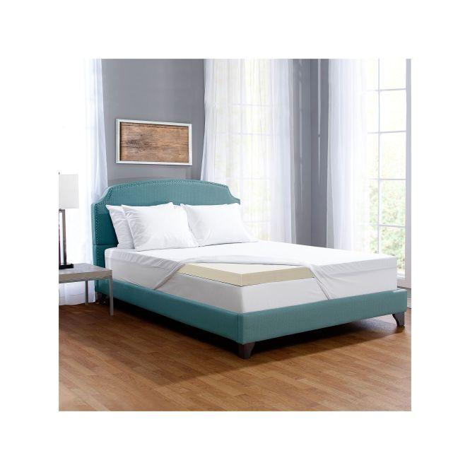 Serta 3 Inch Comfort Boost Memory Foam Mattress Topper White