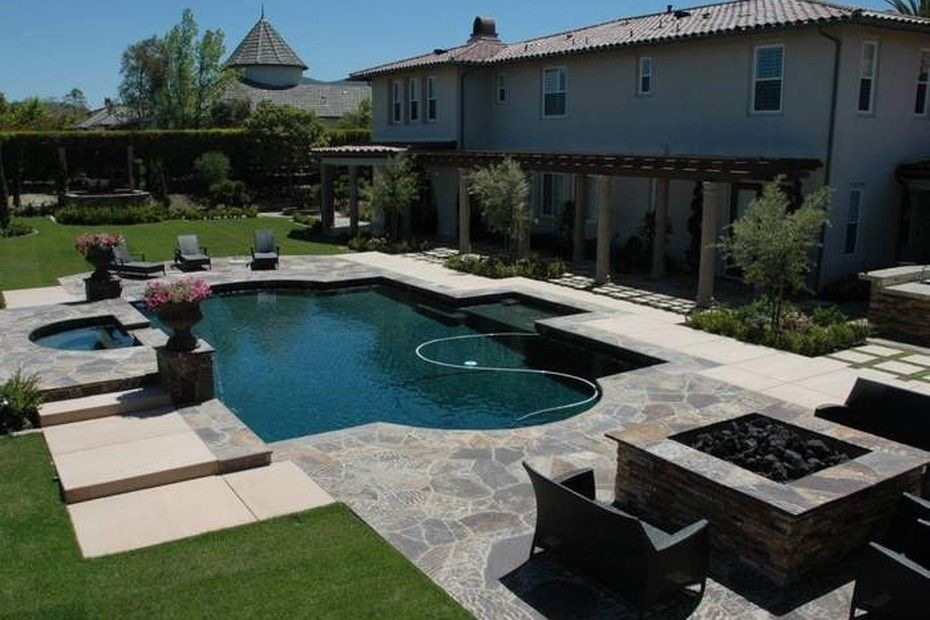 stunning backyard with pool hot tub covered patio and on stunning backyard lighting design decor and remodel ideas sources to understand id=22684