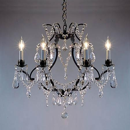 For The Hall Bathroom Wrought Iron Crystal Chandelier Chandeliers H19 X