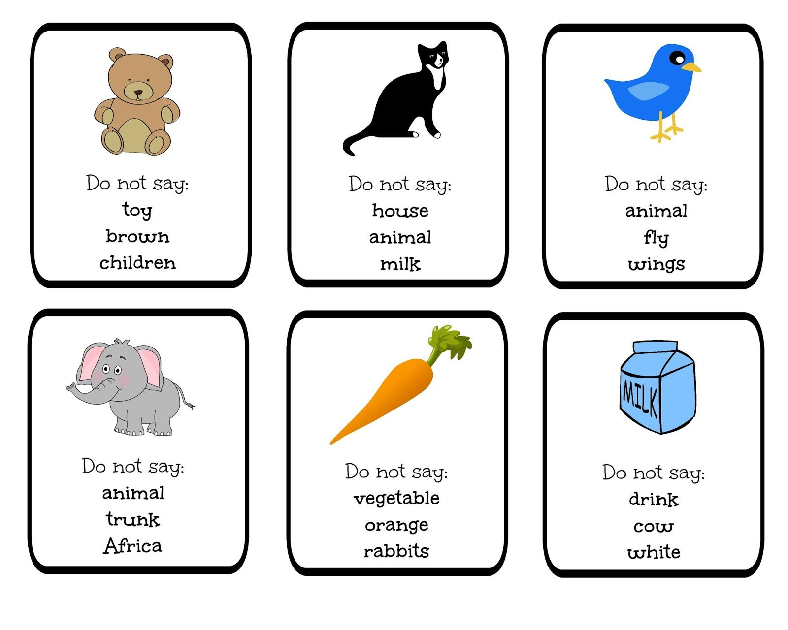 Funglish Taboo Blog Cards Games Do Not Say Vocabulary Young Learners Teenagers Speaking