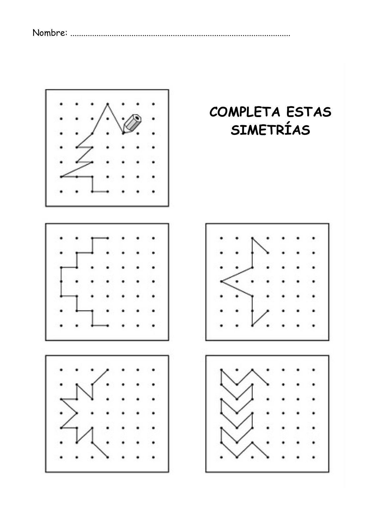 Simetrias Para Ninos Imprimir