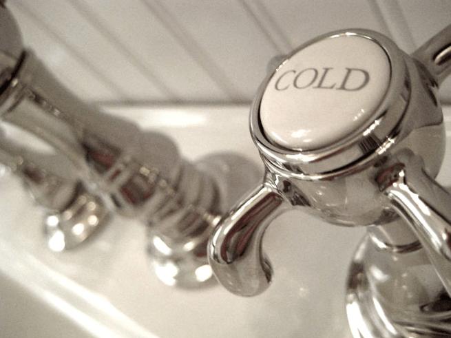 summer thornton design - bathrooms - beadboard, vintage, hot, cold