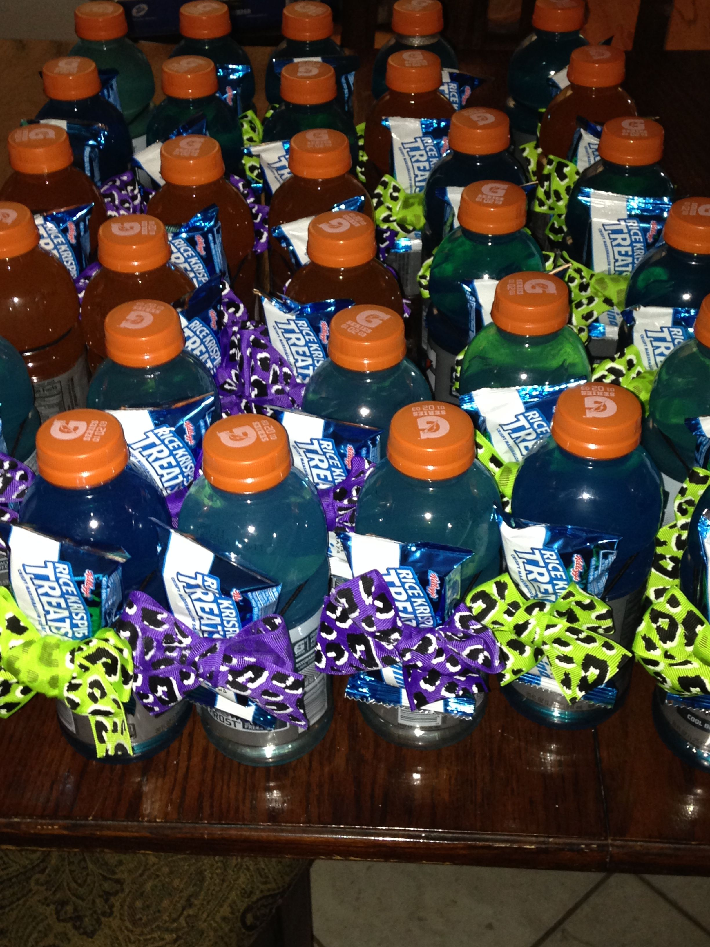 Cute Cheer Snacks We Made For Practice Gatorade Bottles