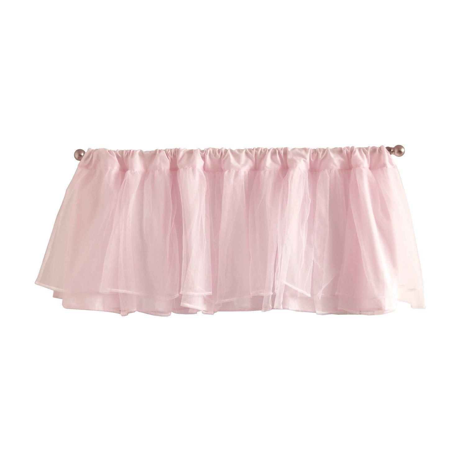 Tadpoles Dvlatl00 Layered Tulle Valance Nursery Window