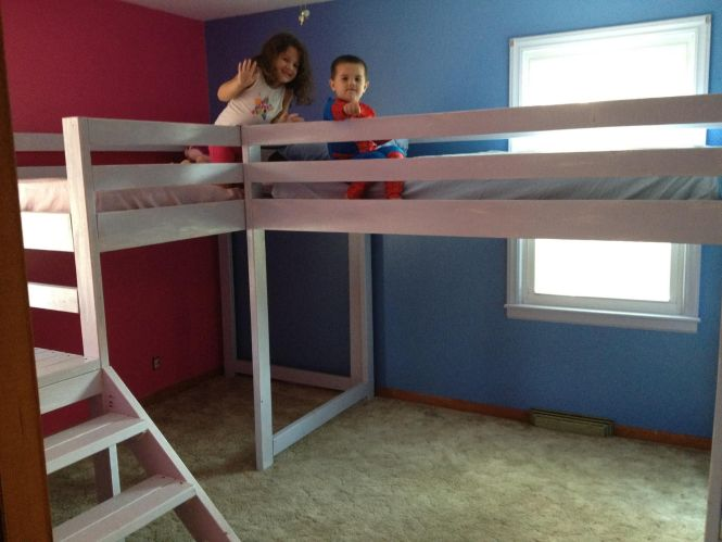 Ana White Twin Loft Beds With Platform Diy Projects Throughout Lofted Regard To House Small For S Glamorous Bedroom Design