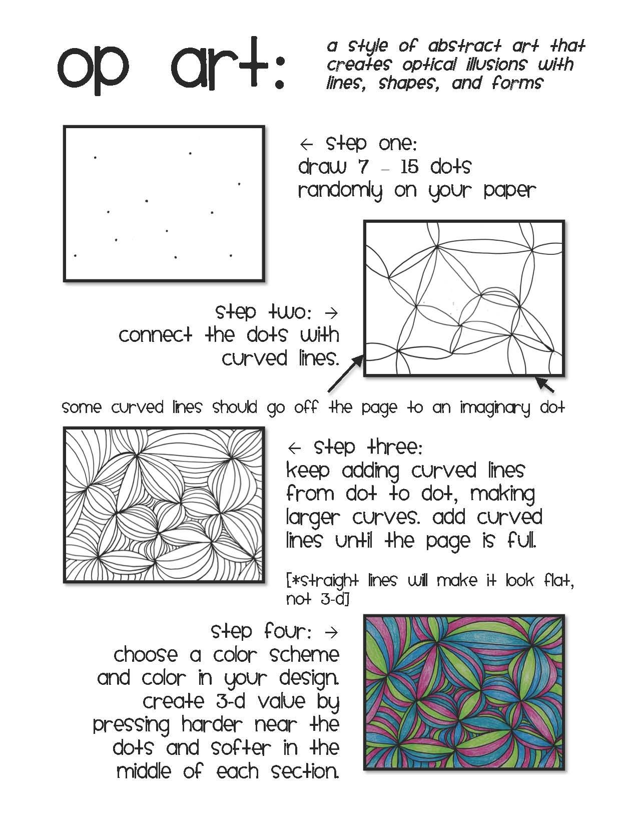 Images About Art Lesson Ideas Op Art