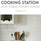 An organized cooking station stove organizing and household