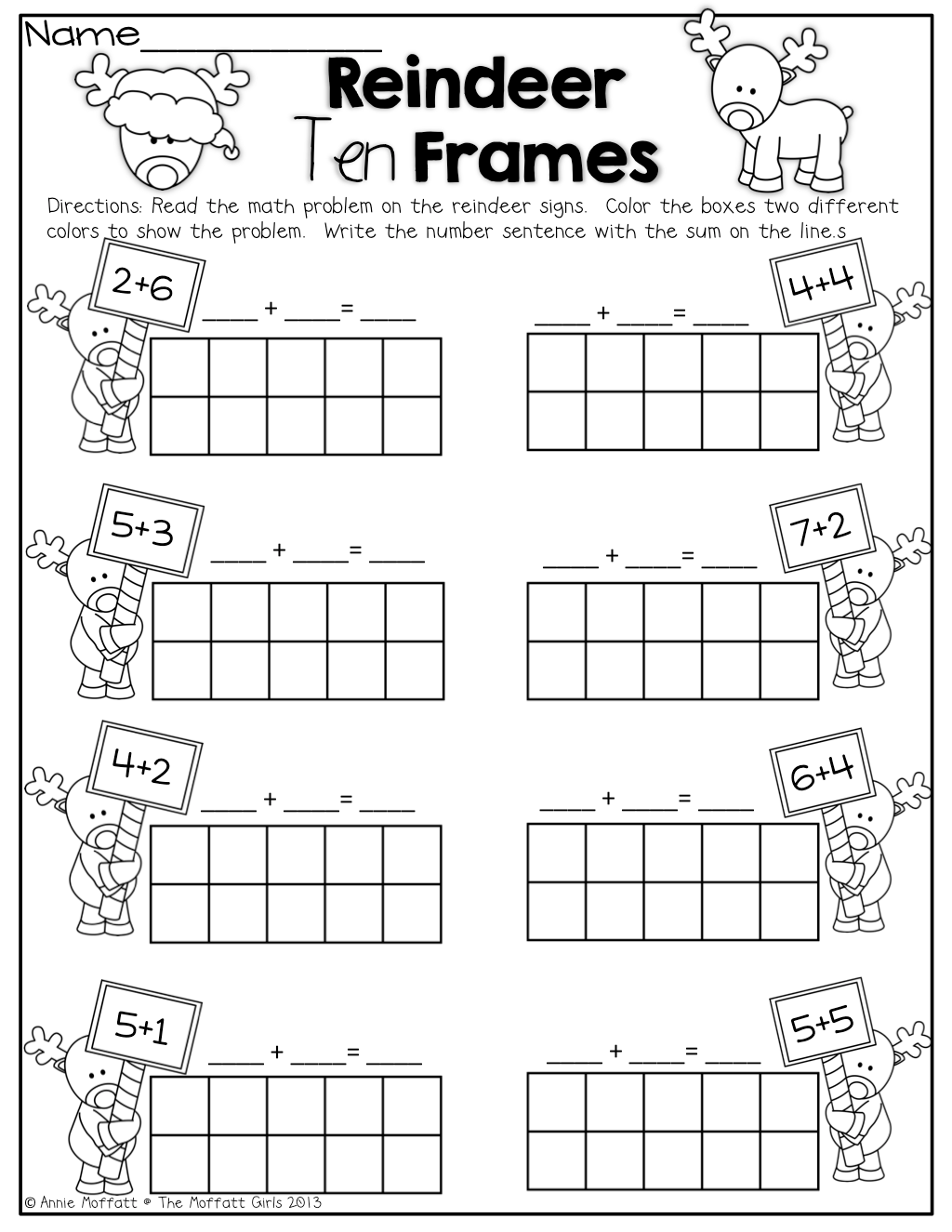 Worksheet Ten Frames Worksheets Worksheet Fun Worksheet