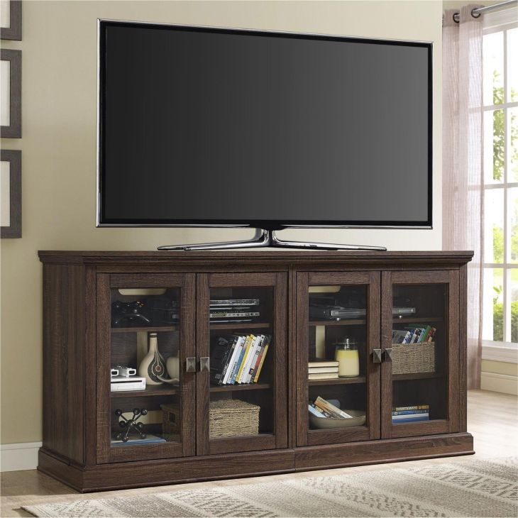 Ameriwood Home Bennett TV Console with Glass Doors  PCOM