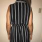 Black millenium dress slick black with thin white stripes millenium
