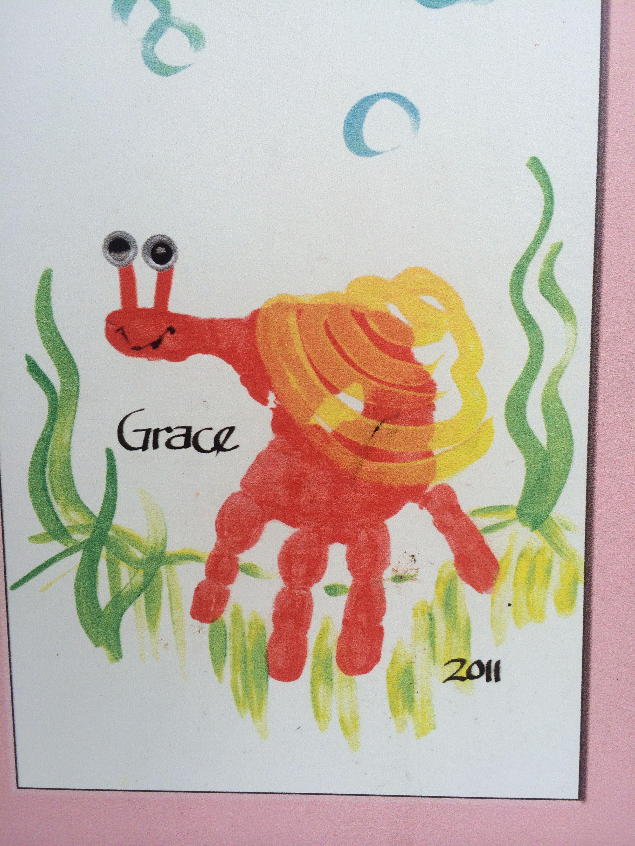 Kids Handprint Idea Handprint Snail Craft For Kids Preschool Kidscraft Snail
