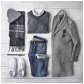Men's grey flannel trousers  Men style  Clothes and Things  Pinterest  Man style Clothes and