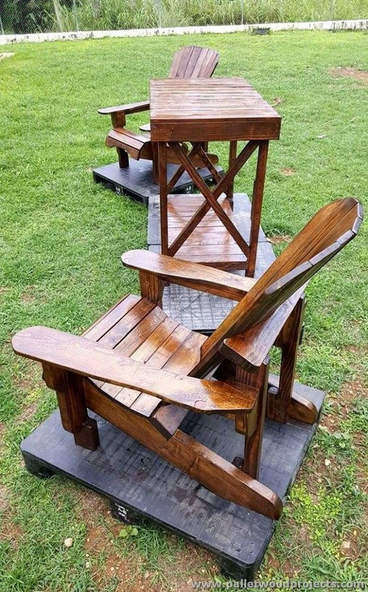 Inspired Pallet Furniture Ideas Pallet patio furniture Pallet